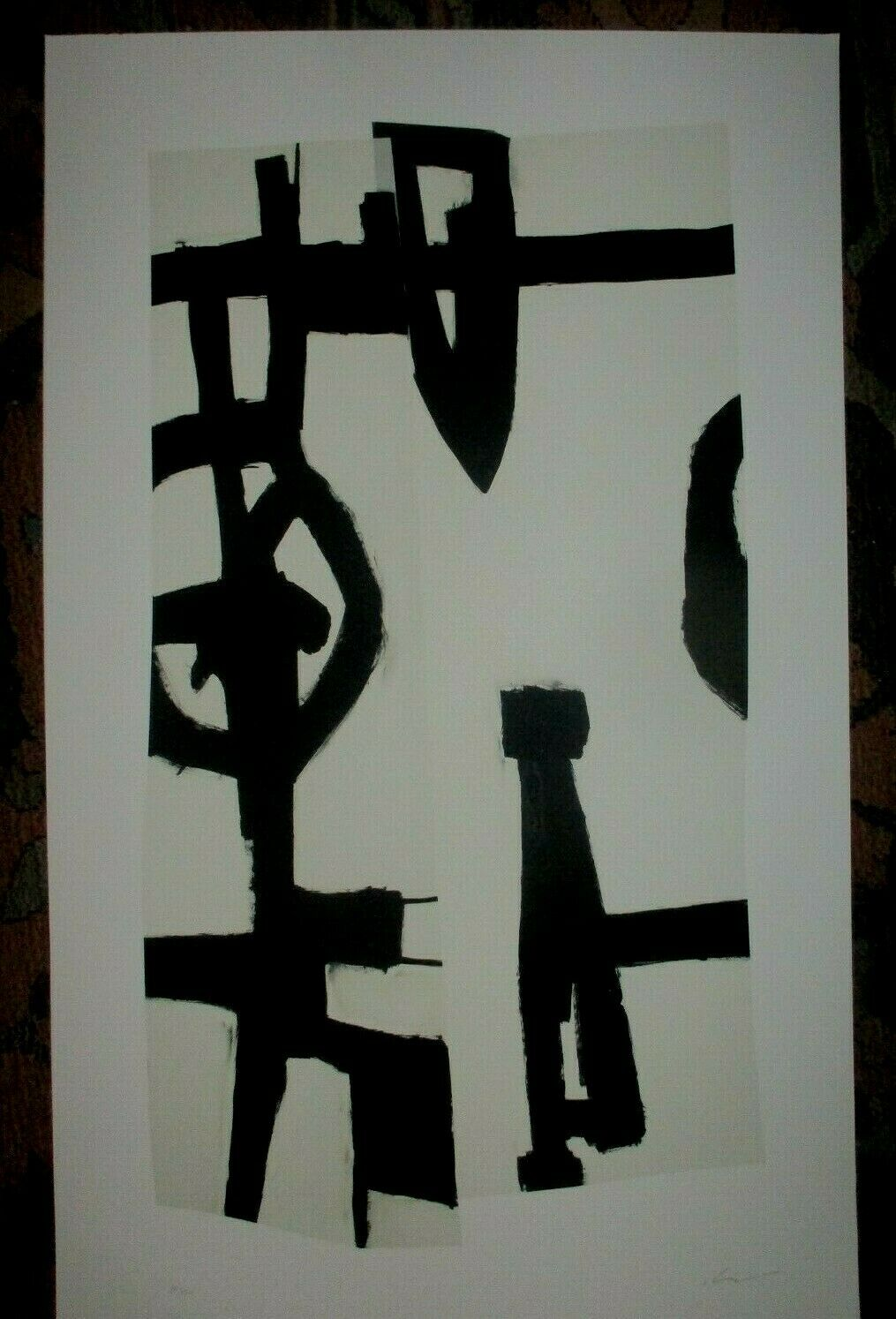 SIGNED ACTION/ABSTRACT EXPRESSIONIST LITHOGRAPH-Franz Kline-Motherwell-Pollack on eBay thumbnail