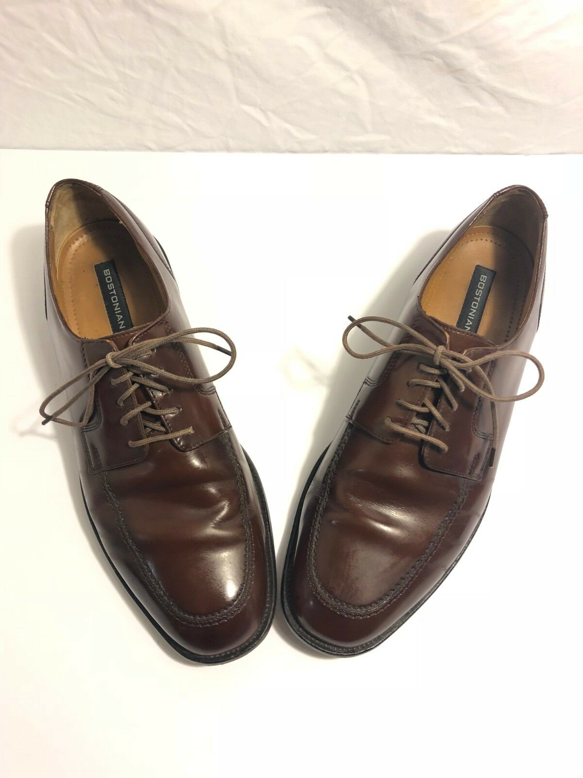 Bostonian shoes Size 10.5 M Oxfords First Flex Mens Brown Leather 25022