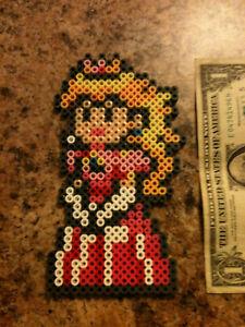 Details About Nes Super Mario Bros Princess Peach Bead Pixel Art