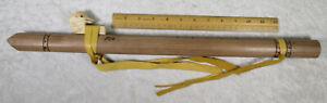 Red Ute Edward Bent Box Sr. Traditional Indian Flute Mahogany Wood 6 Hole Key F
