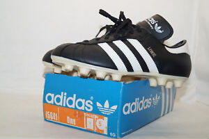 Détails sur Adidas Vintage Fussballschuhe Uwe 80er eu.38 uk.5 Box West Germany Made Black afficher le titre d'origine
