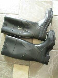 7 laarzen gratis hoge Womens op zwarte Nieuw schip bewaker neus stalen Rubber NOyvmP80nw