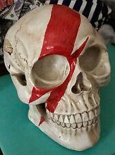 David Bowie Anatomical Human Skull  Table Decoration Aladdin Sane Lightning Bolt