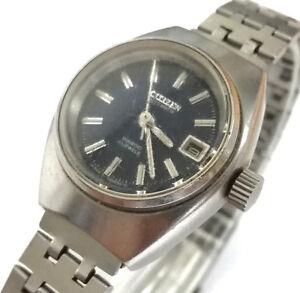 niño bajo precio auténtico Details about Reloj pulsera mujer CITIZEN AUTOMATIC 28800 21 Jewels  Original fecha Vintage
