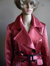 Wilsons WL Leather DRESSY coat Jacket women size L belted VERY RARE !!!
