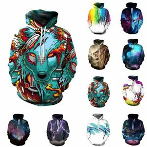 Hommes-3D-Graphique-Pullover-Sweat-A-Capuche-Chaude-Polaires-Manteau-Exterieur