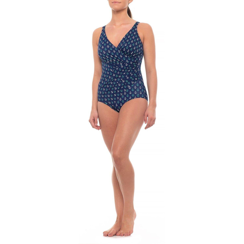 Nuevo Con Etiquetas Nuevo MIRACLESUIT Oceanus anclajes  Tanque traje de baño de una pieza azul marino talla 12  minorista de fitness