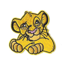 Details About Simba Iron On Sew On Patch Embroidered Badge Cartoon The Lion King Kids Pt136