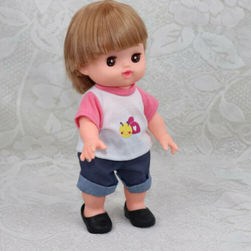 Summer Shoes Sandal Slipper For 25cm Mellchan Doll Accessory Black 3 Pair