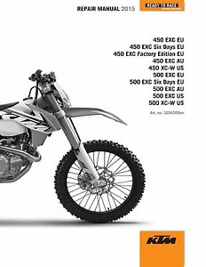 details about ktm service workshop shop repair manual book 2015 500 exc six days Ktm 500 Exc Service Manual