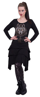 SPIRAL DIRECT NEW WOLF DREAM Layered Skirt Dress/Native/Dream Catcher/Wolf