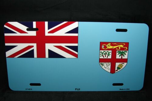 FIJI FLAG METAL NOVELTY LICENSE PLATE TAG FOR CARS