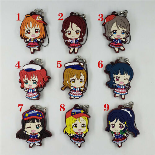 Anime LoveLive Rubber keychain Key Ring Race Straps cosplay