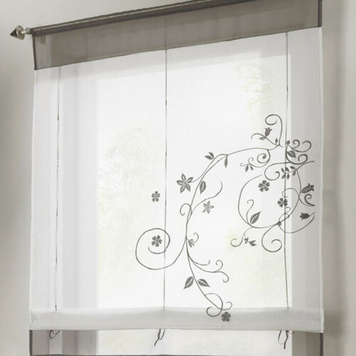 Kitchen Net Curtains Voile Tier Curtain Window Lace Cafe Curtain Home Decor GD