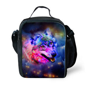 Cool Wolf Kids Insulated Lunch Pack Bag