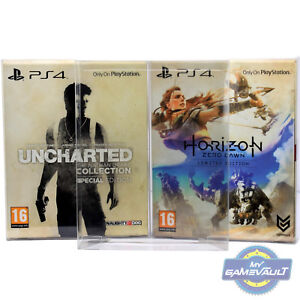 1-x-BOX-PROTECTOR-Horizon-Limited-Uncharted-Special-PS4-Games-0-5mm-PLASTIC-CASE