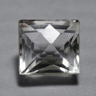 Echter Weisser Ovaler Bergkristall 13x9mm aus großem Lot