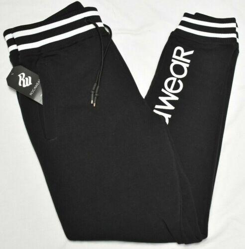 Rocawear Jogger Pants Men/'s Pro League Fleece Logo Sweatpants Black Urban P933