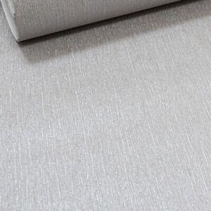 Metallic Grey Silver Plain Textured Non Woven Vinyl Wallpaper