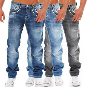Men-Stylish-Ripped-Jeans-Pants-Biker-Skinny-Slim-Straight-Leg-Denim-Trousers