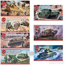Airfix Vintage Classics WW2 1:76 Model Kits Bren Panther Stug Sherman Panzer
