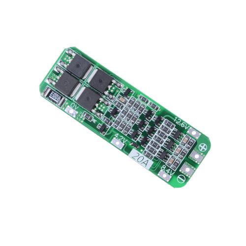 3S 20A 12,6 V Zelle 18650 Lion Lithium-Batterie Ladegerät BMS Schutz Platine  ^