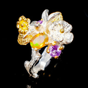 Orange-Opal-Ring-Silver-925-Sterling-Special-Sale-Price-Size-6-5-R136871