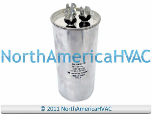 NEW Motor Round Dual Run Capacitor 85 10 MFD 370 440 Volt Supco CR85+10x440R
