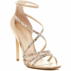 18d24b44068 Ivanka Trump Hyde Women's High Heels Sandals Platino Leather Size ...