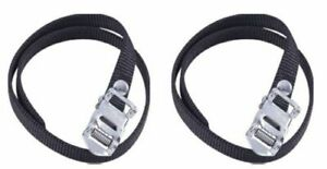 Heavy-Duty-Premium-Spin-Bike-Pedal-Cycle-Toe-Straps-Black-Nylon-One-Pair