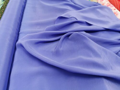 """NEW*top quality soft//flowy crepe fabric 12 plain colours in stock 44/""""width"""