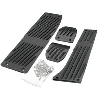 Black Aluminum Foot Rest Pedals MT Pads for BMW E30 E36 E46 E87 E90 E91 E92 E93