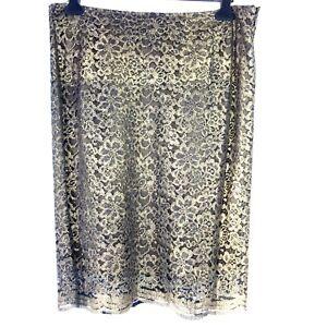 MYBC by Basler Femmes Jupe Sansibar Taille 44 XXL Bronzeschimmer Top Np 229 Neuf