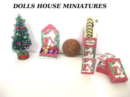 Arbre de Noël et Accessoires Maison De Poupées Miniatures