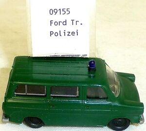 Police-ford-transit-diesel-Mesureur-EUROMODELL-09155-h0-1-87-OVP-compartiment-a