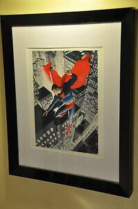 Framed-Superman-Alex-Ross-Print-DC-Marvel-Comic-Book-Art-Man-of-Steel