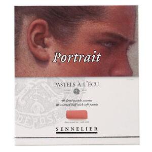 SENNELIER-Extra-weiche-Pastellkreiden-40-halbe-Kreiden-Sortiment-Portrait