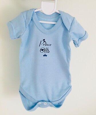 Baby boy clothing PERSONALISED cute rocket babygrow sleepsuit ANY NAME//SLOGAN