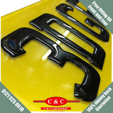 3D UK FONT Black Fibre Effect Resin Domed Gel Raised Car Number Plates PAIR BS