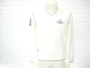 Scollo Bianco Country V La Maglia Lana Club Sweater Martina Maglione Polo Mms308 qxTwtv
