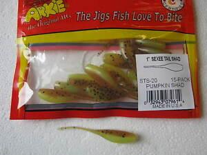 Arkie Sexee Tail  Shad Panfish pumkin shad