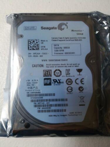 Seagate Momentus 7200 500 GB SATA 3Gb//s NCQ 16MB Cache 2.5 Inch Internal Note...