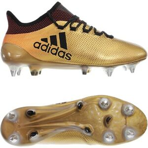 Vigilante Picotear Consejo  Adidas X 17.1 SG gold Men's soccer football boots cleats Techfit SoftGround  NEW | eBay