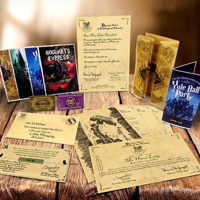Hogwarts MEGA PACK! Acceptance Letter, Maps + MORE! Harry Potter Style 3
