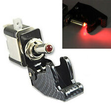 12V 20A Car Truck Carbon Fiber Red LED Toggle Switch Light Racing SPST Sales