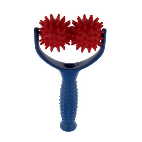 Massage-Roller mit Griff Triggerpunkt  Roller MAkupunktur Ball Blau Rot