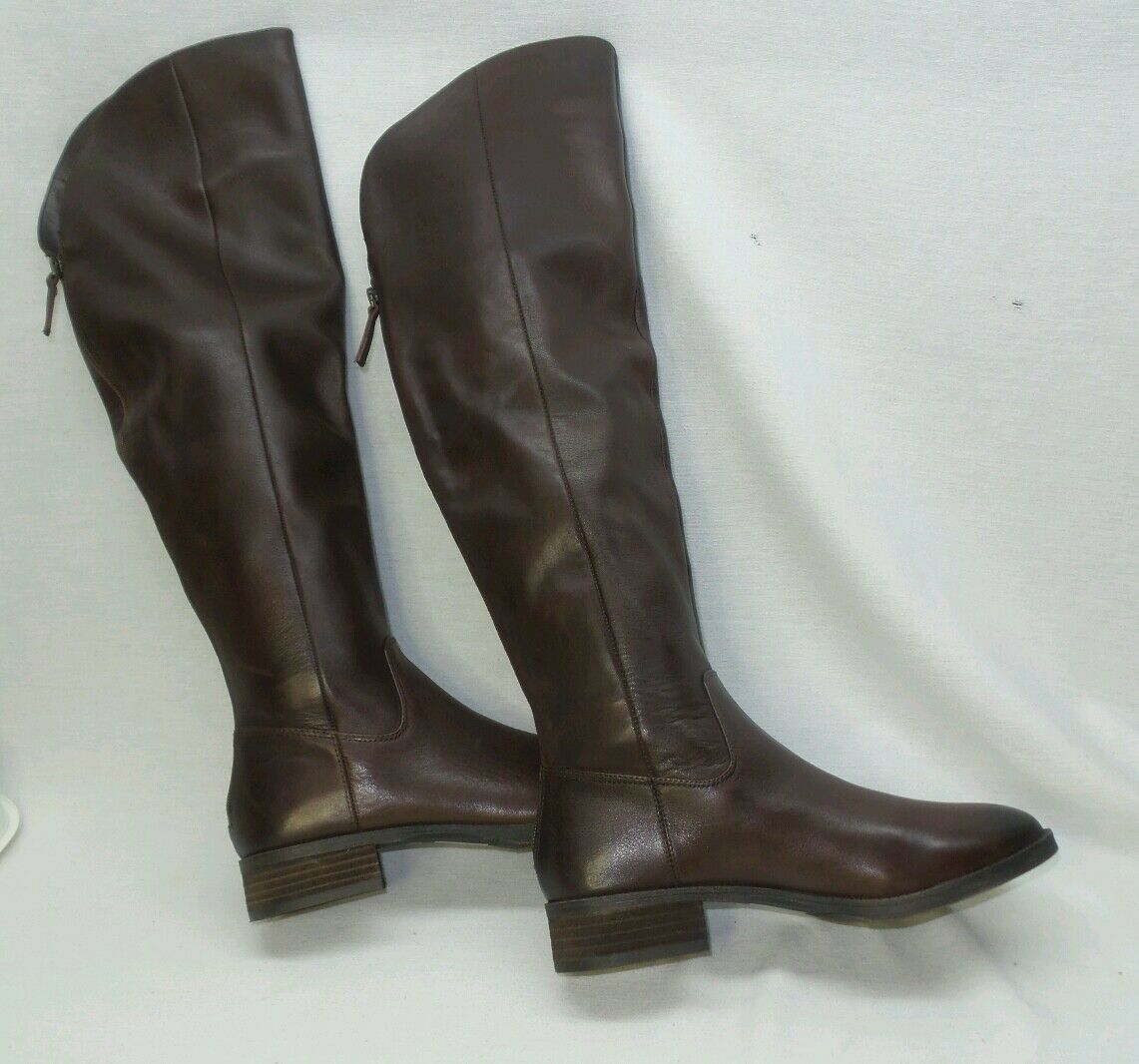 NEW Sole Sole Sole Society Leather Over-the-Knee Boots ANDIE Dark Brown size 8 1b7034