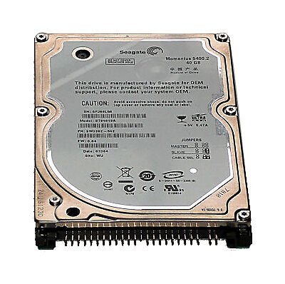 "Seagate Momentus 5400.2 40 GB IDE PATA 5400RPM Internal 2.5/"" ST94813A Hard Drive"