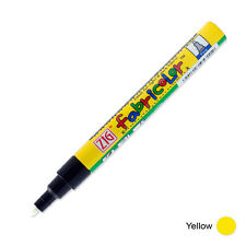 Zig Fabricolor Fabric Marker - 2mm - Yellow (Pack of 12)