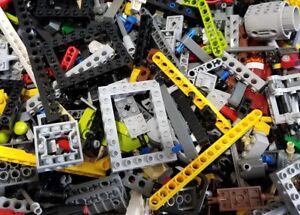 LEGO-Lot-of-100-Technic-Mindstorms-NXT-RCX-BULK-Parts-Liftarms-Bricks-Axles-Pins